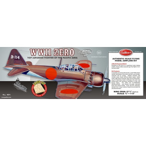 Mitsubishi Zero Flying Model Balsa Aircraft Kit 705mm Wingspan from Guillow's