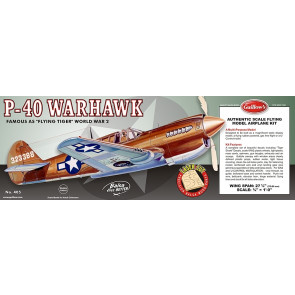P-40 Warhawk Flying Model Balsa Aircraft Kit 711mm Wingspan from Guillow's