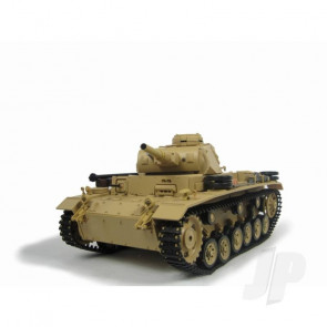 Henglong 1:16 German Tauch Panzer III RC Tank Shoots Plastic BB's with Smoke and Sound