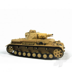 Henglong 1:16 German Panzer IV F1 RC Tank Shoots Plastic BB's with Smoke and Sound