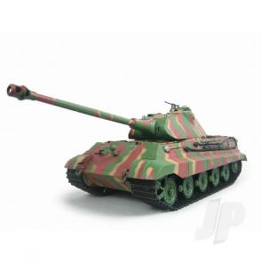 Henglong 1:16 German King Tiger Porsche RC Tank Shoots Plastic BB's with Smoke and Sound
