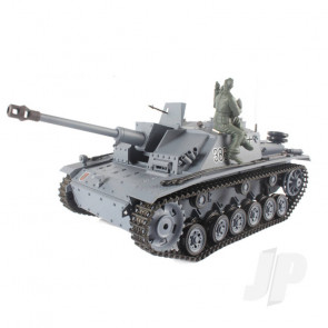 Henglong 1:16 German Stug III RC Tank Shoots Plastic BB's with Smoke and Sound