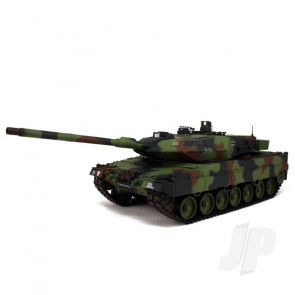 Henglong 1:16 German Leopard 2A6 RC Tank Shoots Plastic BB's with Smoke and Sound