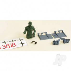 Henglong Tiger I Decals Driver and Fittings (Grey)