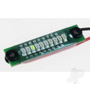 GWS Onboard LED Battery Voltage Checker 1-4S LiPos (3.7-14.8V) for RC Models