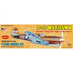 P-40 Warhawk 419mm Wingspan Flying Model Balsa Aircraft Kit from Guillow's