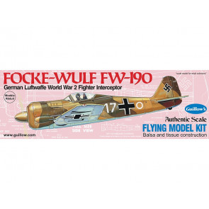 Focke-Wulf FW 190 419mm Wingspan Flying Model Balsa Aircraft Kit from Guillow's