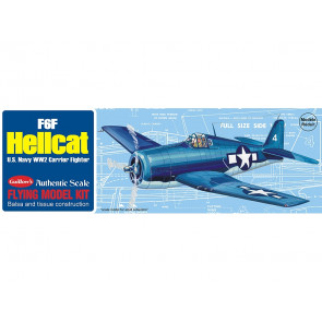 F6F Hellcat 419mm Wingspan Flying Model Balsa Aircraft Kit from Guillow's