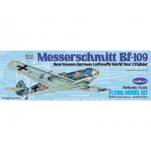 BF-109 Messerschmitt 419mm Wingspan Flying Model Balsa Aircraft Kit from Guillow's