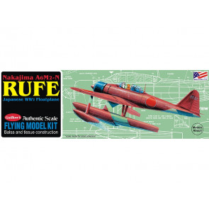Kakajima A6M2-N Rufe Seaplane 407mm Span Flying Model Balsa Aircraft Kit from Guillow's