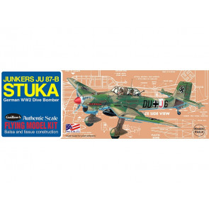 Junkers JU 87 Stuka 419mm Wingspan Flying Model Balsa Aircraft Kit from Guillow's