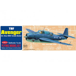 TBF Grumman Avenger 419mm Wingspan Flying Model Balsa Aircraft Kit from Guillow's