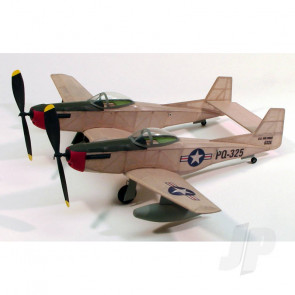 Dumas F-82 Twin Mustang (44.5cm)(206) Balsa Aircraft Kit