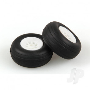JP 1.1/2in - (37mm) White Wheels (2pcs) for RC Aircraft