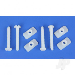 JP Universal Nylon Wing Bolts and Nut Set 6x45mm (4) For RC Model Plane