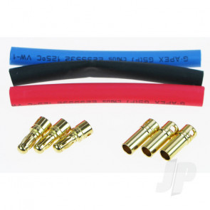 JP Gold 3.5mm Bullet Connectors (3 Pairs) for RC Models