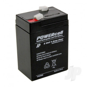 JP 6V 4Ah Powercell Gel Battery for RC Model