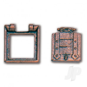 Constructo 80210 Gun Port Hatch 12x13mm - Pack of 2 - Model Ship Accessories