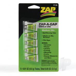 Zap PT105 Zap-A-Gap Single Use .01oz (5pcs) Cyano CA Super Glue