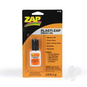 Zap PT102 Plasti-Zap Brush-On CA 1/4oz Cyano Super Glue For Plastic and Vinyl