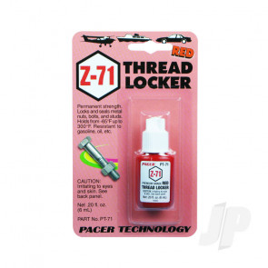 Zap PT71 Z-71 Red Thread Lock Locker .20oz