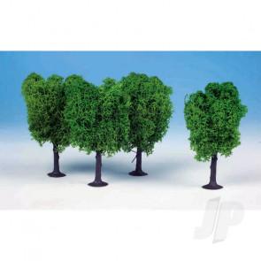Heki 1020 3 Lichen Elm Trees 12cm (Light Green) For Scenic Diorama Model Trains