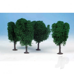 Heki 1010 3 Lichen Birch Trees 12cm (Dark Green) For Scenic Diorama Model Trains