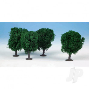 Heki 1030 4 Lichen Avenue Trees 7cm (Dark Green) For Scenic Diorama Model Trains