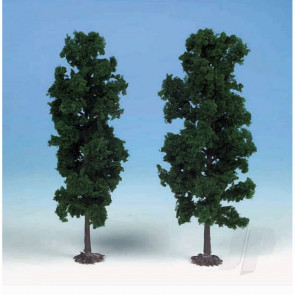 Heki 1130 2 Beech Trees 18cm (Dark Green) For Scenic Diorama Model Trains