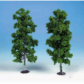 Heki 1135 2 Beech Trees 18cm (Light Green) For Scenic Diorama Model Trains