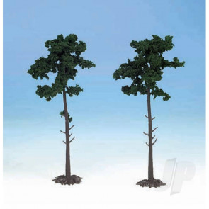 Heki 1150 2 Scots Pine Trees 18cm For Scenic Diorama Model Trains