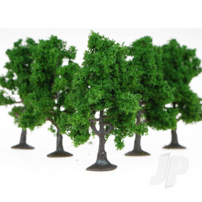 Heki 1965 5 Fruit Trees 7cm (Dark Green) For Scenic Diorama Model Trains