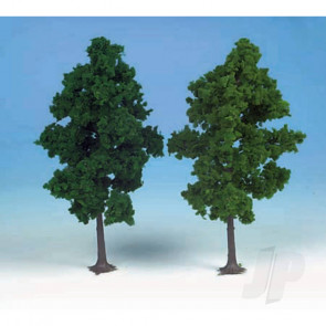 Heki 1202 2 Beech Trees 19cm (Dark Green) For Scenic Diorama Model Trains