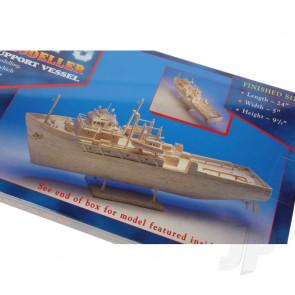 Hobby's Matchbuilder Oil Rig Support Vessel Ship Wood Matchstick Kit