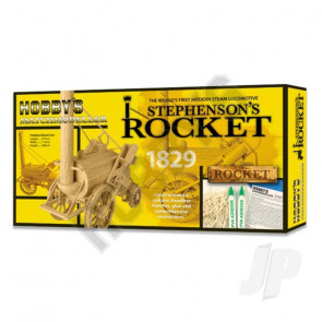 Hobby's Matchbuilder Stephens Rocket Locomotive Steam Train Wood Matchstick Kit