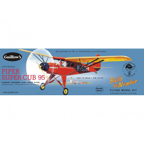 Piper Super Cub 508mm Wingspan Flying Model Balsa Aircraft Kit from Guillow's