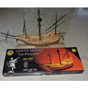 """Mantua Santa Maria 1:100 Scale Wood Ship Kit """"Le Piccole"""" - Columbus Flagship 1492"""
