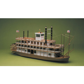 Mississippi Paddle Steamer River Boat 1:50 Large Scale Wooden Kit