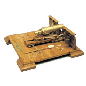 English 18th Century Carronade Mantua Wood Construction Kit 1:17 Scale 215x215mm
