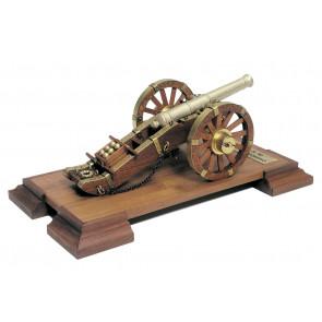 Napoleonic 12 Pounder 18th Century Cannon Mantua Wood Construction Kit 1:17 Scale 110x210mm