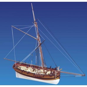 Caldercraft HMS Sherbourne 8 Gun Royal Navy Cutter 1763 Wood Kit 1:64 Scale