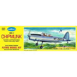 De Haviland Chipmunk 431mm Wingspan Flying Model Balsa Aircraft Kit from Guillow's