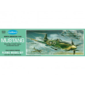 P-51D Mustang 431mm Wingspan Flying Model Balsa Aircraft Kit from Guillow's