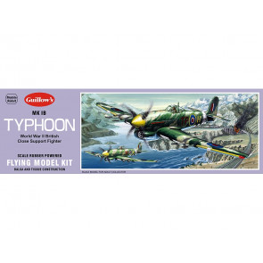 Hawker Typhoon 457mm Wingspan Flying Model Balsa Aircraft Kit from Guillow's
