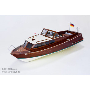Queen 1960s Semi Scale RC Classic Sports Boat   Aero Naut Wooden Kit