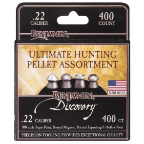 Ultimate Hunting Assortment of .22 Pellets for Air Gun / Rifle / Pistol Qty 400