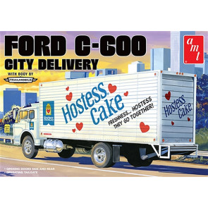 AMT 1:25 Ford C-600 City Delivery Truck Lorry (Hostess) Plastic Kit