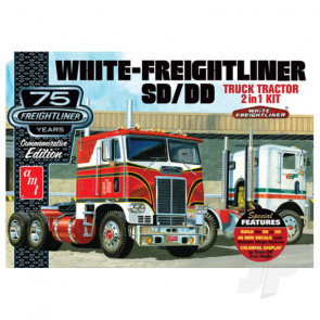 AMT 1:25 White Freightliner 2-in-1 SC/DD Cabover Tractor (75th Anniversary) Truck Plastic Kit