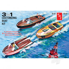 AMT 1:25 Customizing Boat (3-in-1) Plastic Kit