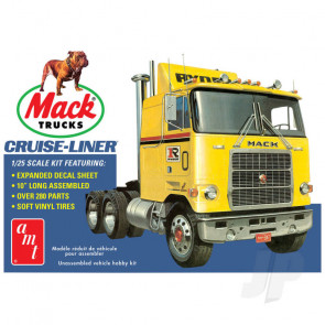 AMT 1:25 Mack Cruise-Liner Semi Tractor Plastic Truck Kit